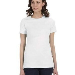 Bella plain tee white