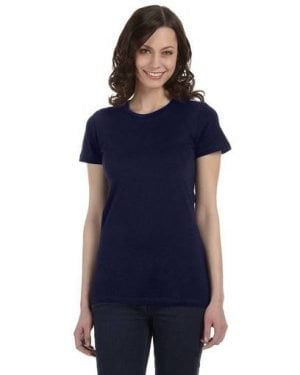 Bella plain tee navy blue