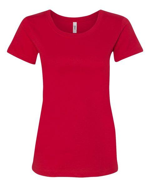 true red ladies tee front