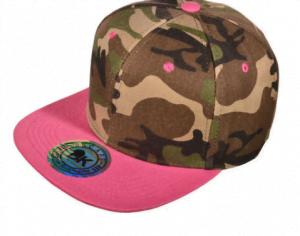 Designer Camo Hat with pink flatbill