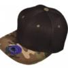 Black Designer Hat with Camo flatbill