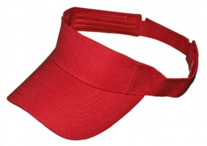 plain red sun visor
