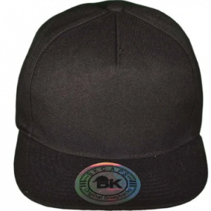 BK plain black cap