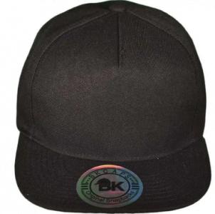 BK plain black cap