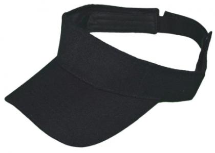 plain black sun visor