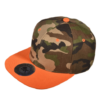 Designer Camo Hat with orange flatbill