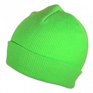 neon green blank beanie