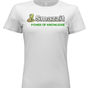 white ladies power of knowledge tee with green letters
