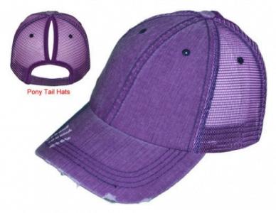 Pony Tail Cap Purple