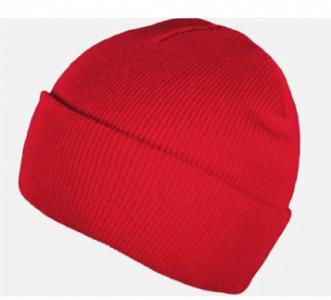 red blank beanie