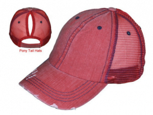 Pony Tail Cap red