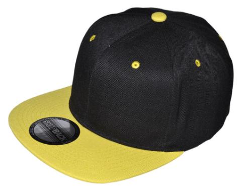 yellow and black snapback