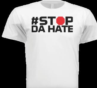 stop da hate white male tee