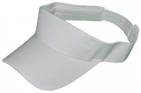 plain white sun visor