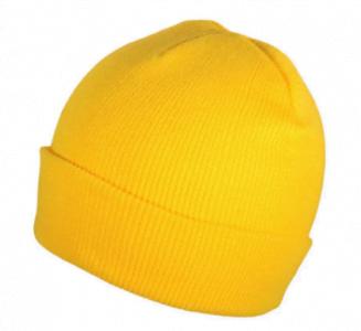 yellow blank beanie