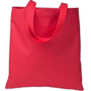 plain red tote bag