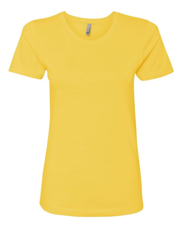 yellow plain tee for ladies front
