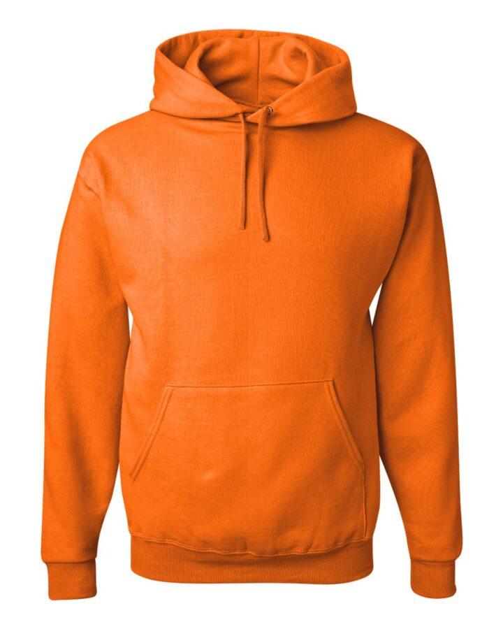 Plain Orange Jerzees Hoodie