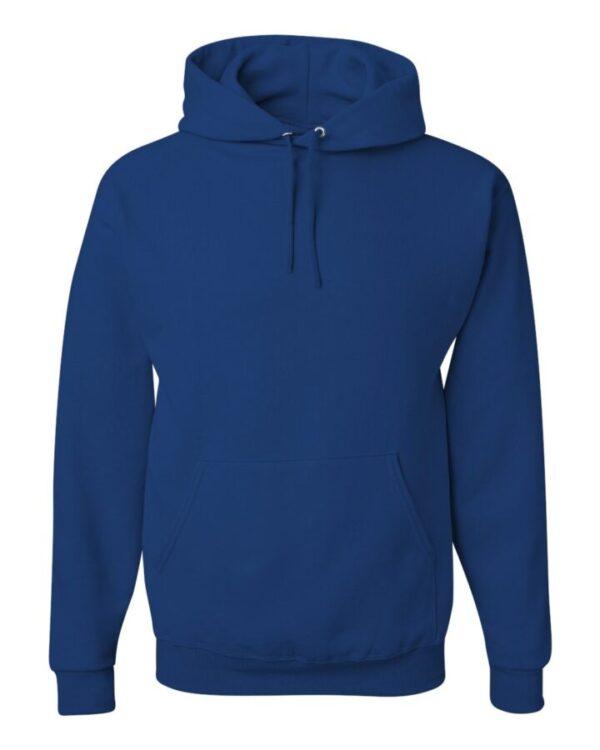 front of custom hoodie blue