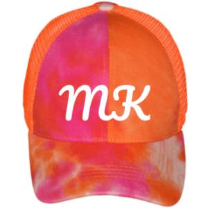 initials encarved in cap