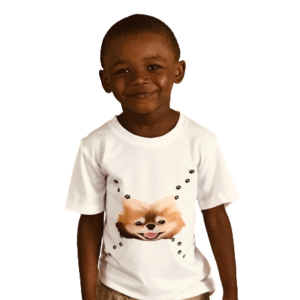 beauty kids t-shirt model