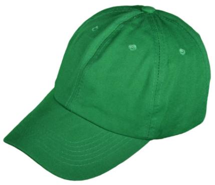 medium green unstructured hat